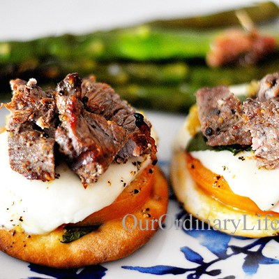 Grilled Mini Beef Pizzas Recipe