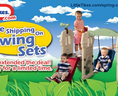 FREE Shipping on Little Tikes Swingsets