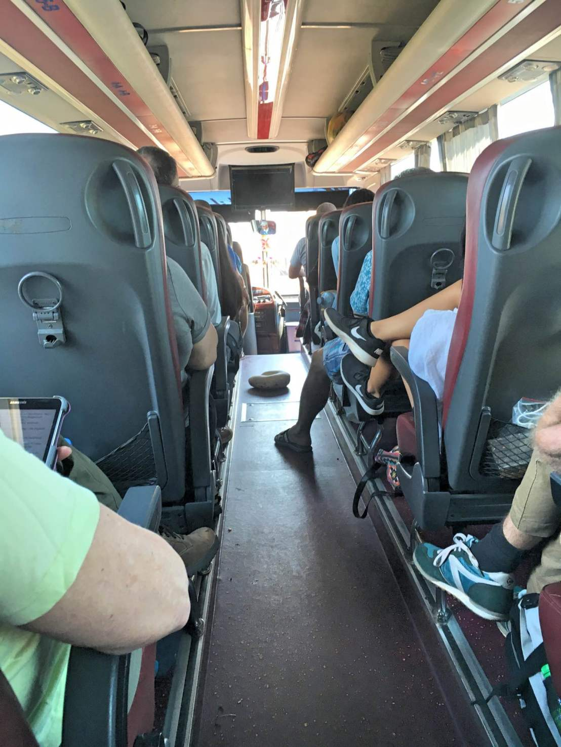 On board the Giant Ibis bus