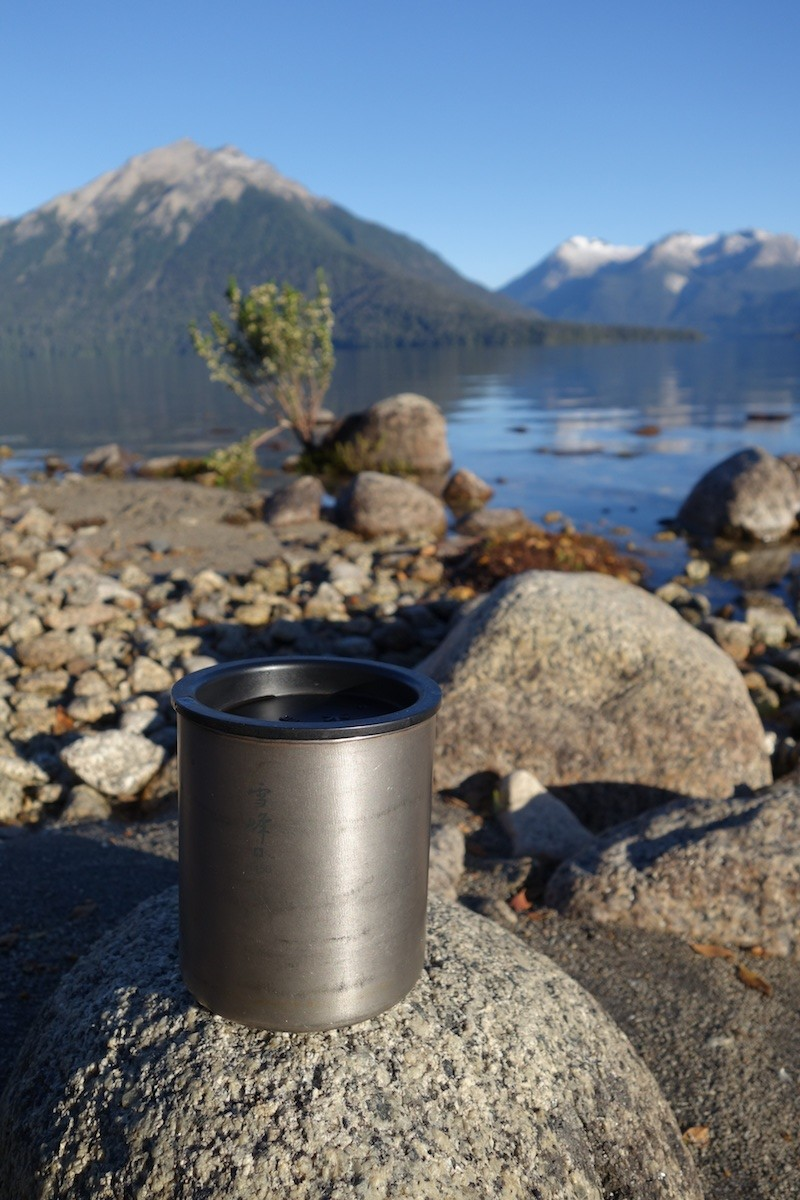 There are only a few possessions I love more or use more than my snowpeak double walled titanium cup. A big splurge that has paid back every penny with simple goodness. Love this cup!