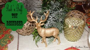 Rub 'n Buff Toy Reindeer {Tutorial}