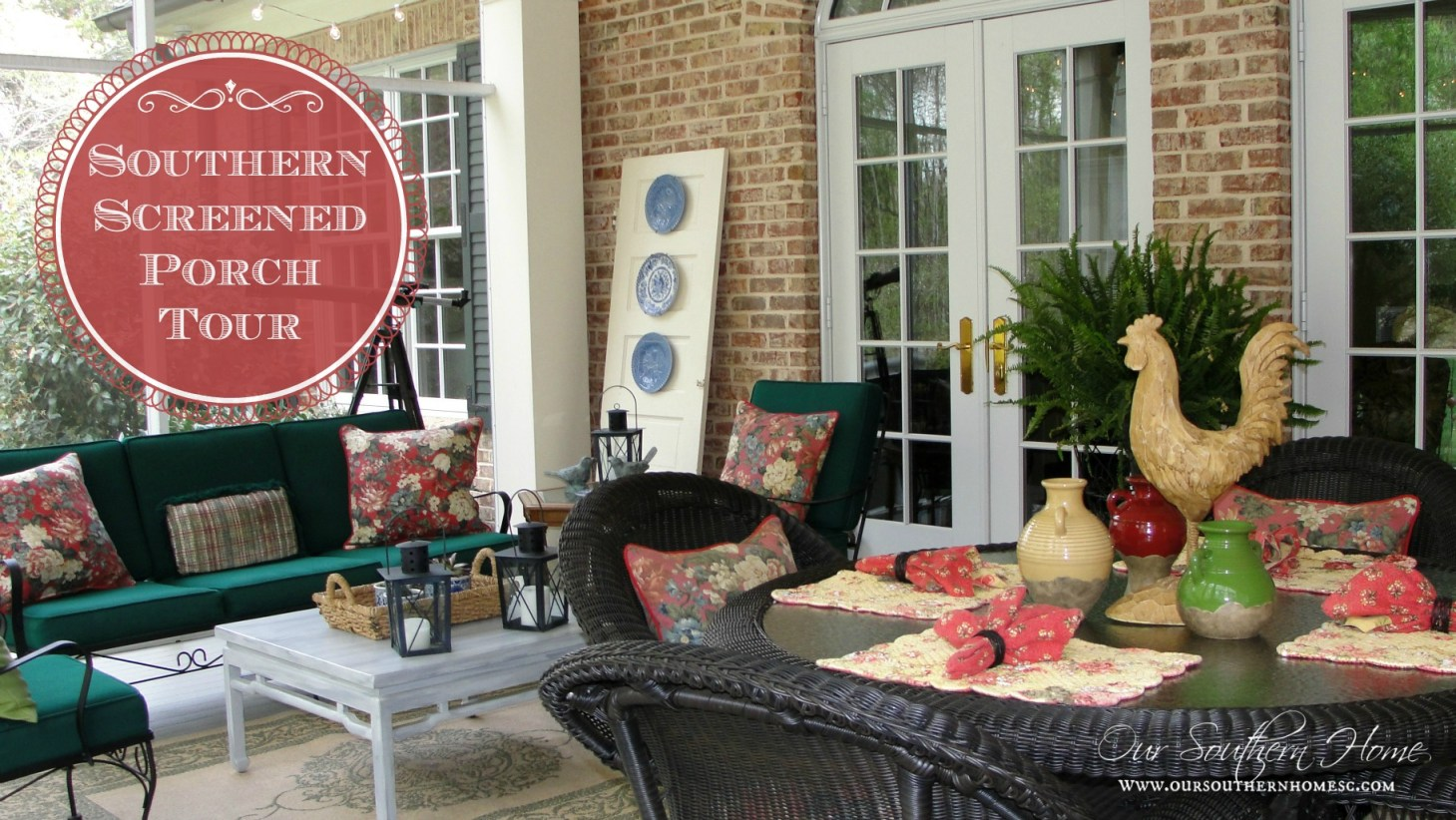 southern screened porch tour