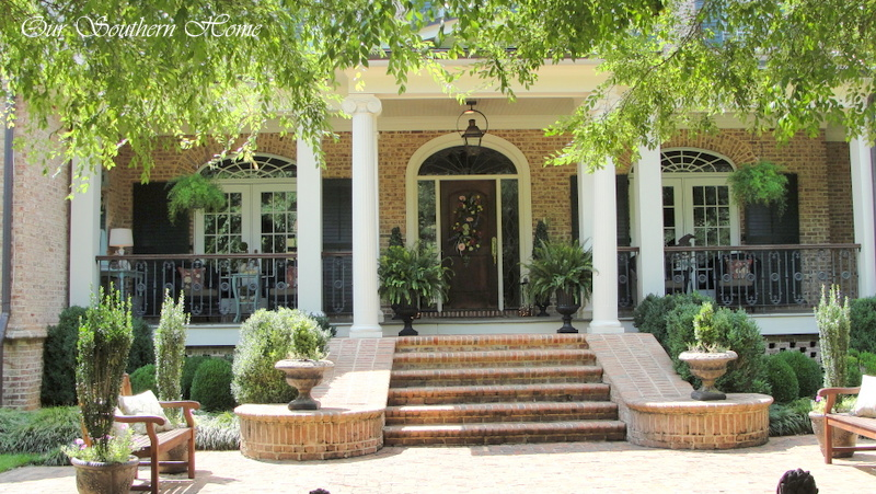 Our southern home summer home tour our southern home for Southern homes with porches