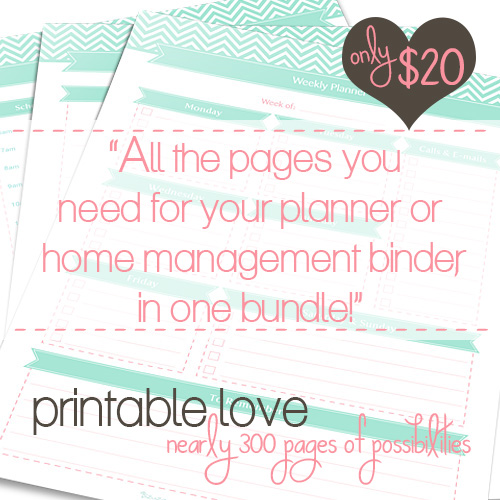 Printable Love Bundle hosted by A Bowl Full of Lemons & Clean Mama