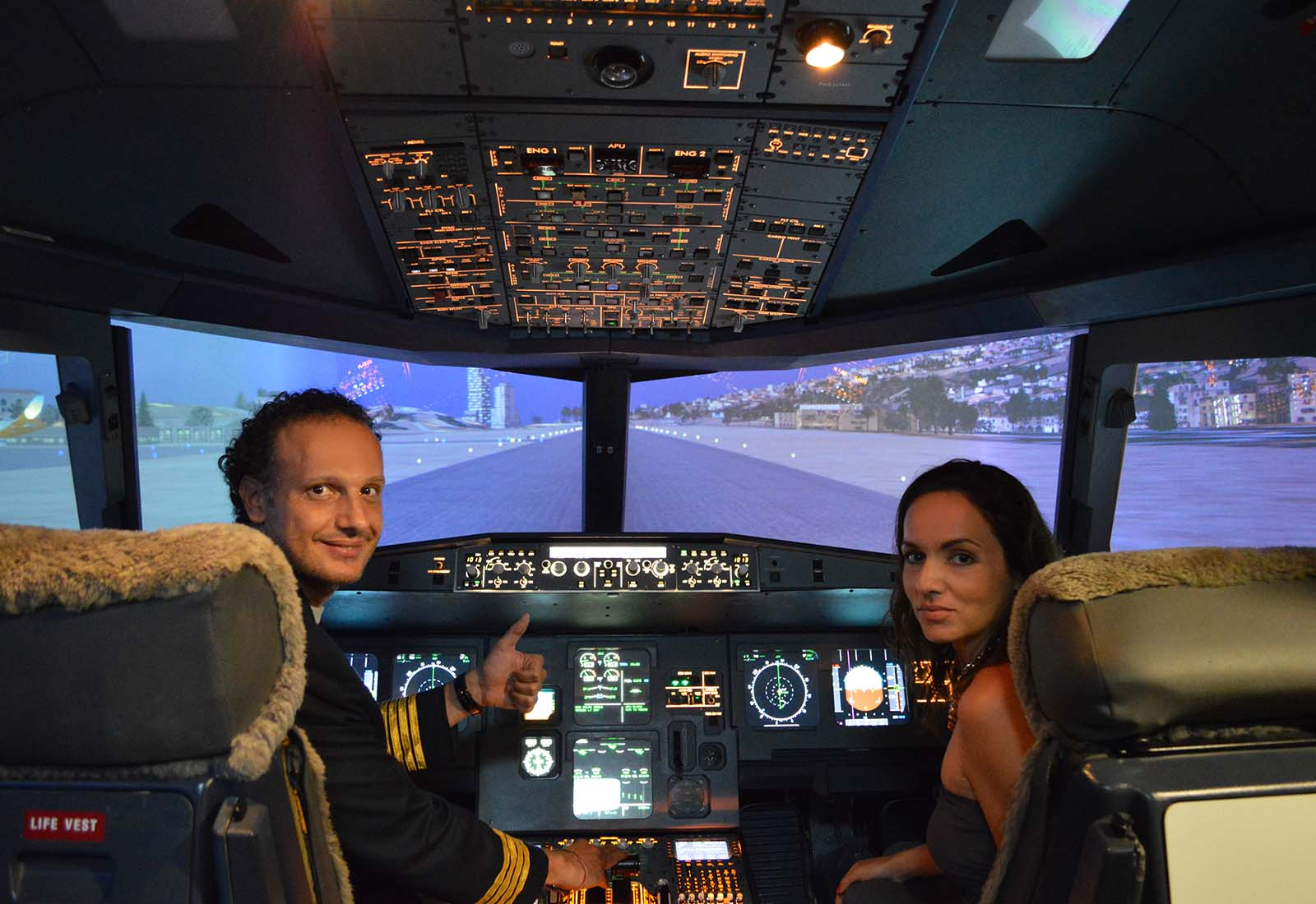 Flying the flight simulator in Singapore