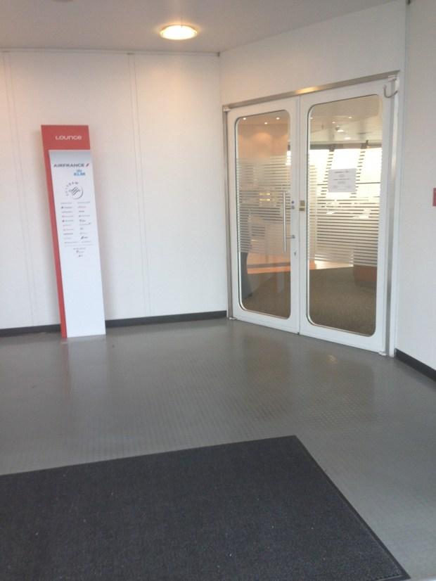 Air France Lounge entrance @ TXL