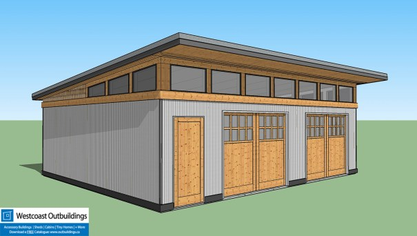 24 39 X 30 39 Modular Garage Westcoast Outbuildings