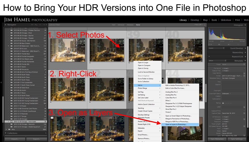 How to combine your HDR versions into one file in Photoshop to create an uncompromising HDR photo