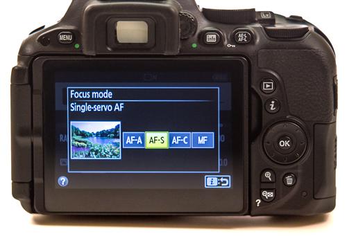 Autofocus modes on Nikon cameras
