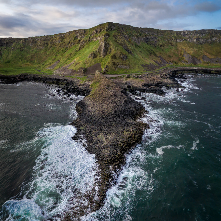 Photo of Giant's Causeway from above (using a drone)