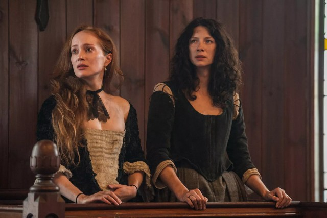 Lotte Verbeek and Caitriona Balfe (Geillis Duncan and Claire Randall Fraser)
