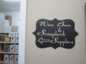 Wine And Scrap booking Supplies