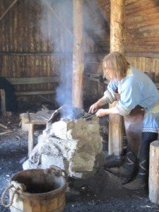 The Blacksmith Makes Iron Out Of The Materials Found In The Bog