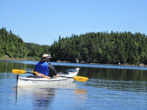 David Kayaking Near Twillingate