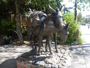 Bronze Statue On The Streets Of Breckenridge, Colorado - Supporting a Friend