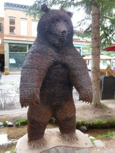 Bear Sculpture In Aspen, CO