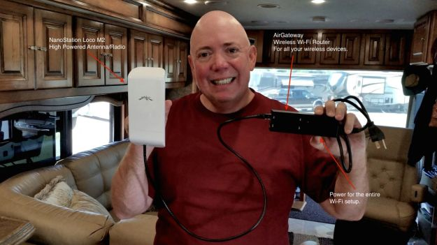 David with the powerful Personal Secure RV Wi-Fi Setup