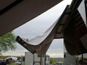 Replacing The Awning Fabric