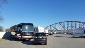 Our Site At The Downtown Riverside RV Park In Little Rock, AR