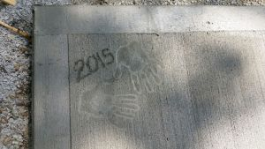 Hand Prints On Our Patio