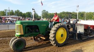 Mike Going Down The Tractor Pull Course