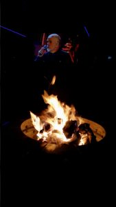 Enjoying A Peter Gabriel Concert Around The Fire Pit