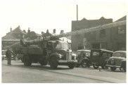 Mumby Road Gosport. Not sure what the masts belong to. Note the Ferry Garage in the background. Credit to the original photographer