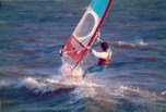 1980s windsurfing at Lee on the Solent