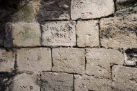 'Graffiti' on the walls of the castle