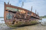 Former Gosport Ferry Vadne decaying in Forton Creek, Gosport
