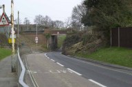 Wych Lane railway bridge, now a bus and cycle route