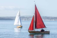Jacqueline class boats sailing at Hill Head October 2015