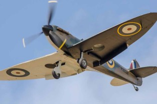 Spitfire on approach to Solent Airport at Daedalus