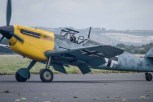 Messerschmitt taxiing at the former HMS Daedalus airfield during the filming of the Warner Brothers film Dunkirk