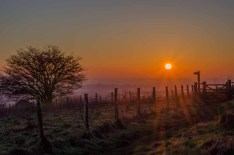 Sunset from Beacon Hill near Exton in the Meon Valley Hampshire