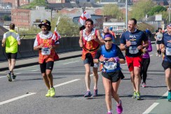 ABP Southampton Marathon runners on the Itchen Bridge