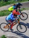 Close moto racing at Gosport BMX Club