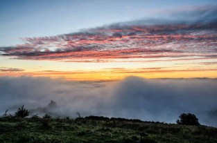 A photograph that could be in a future Meon Views calendar by Studio 6? Mist and fog in the Meon Valley. Amazing colours in this photograph taken just before sunrise looking towards Old Winchester Hill
