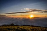 Meon Views. Another shot of the rising sun over a mist and fog shrouded Meon Valley from Beacon Hill Hampshire