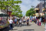 Fareham Market on a summers day. This used to be a traditional livestock / farmers market on what is now a car park