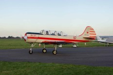 Yakovlev Yak 52 G-CBSL at Solent Airport Daedalus