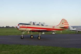 Yakovlev Yak 52 G-CBSL at Solent Airport Daedalus