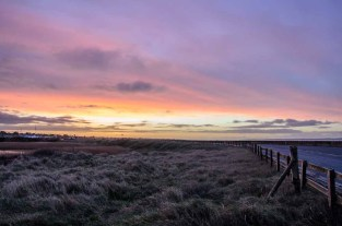 Pastel colours before sunrise taken from the Meon Shore, Hill Head