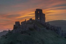 Corfe Castle, Isle of Purbeck, Dorset by out to grass photography