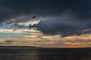Boultbee Spitfire SM520 G-ILDA approaching Solent Airport Daedalus
