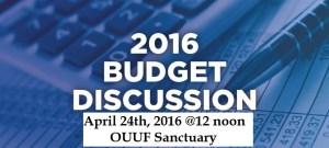 Budget discourse