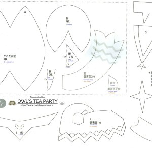 Translated pattern for Riki plushie (Xenoblade Chronicles)