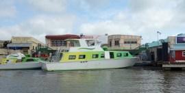 Belize - Guatemala: Ankunft mit dem Wassertaxi in Belize City