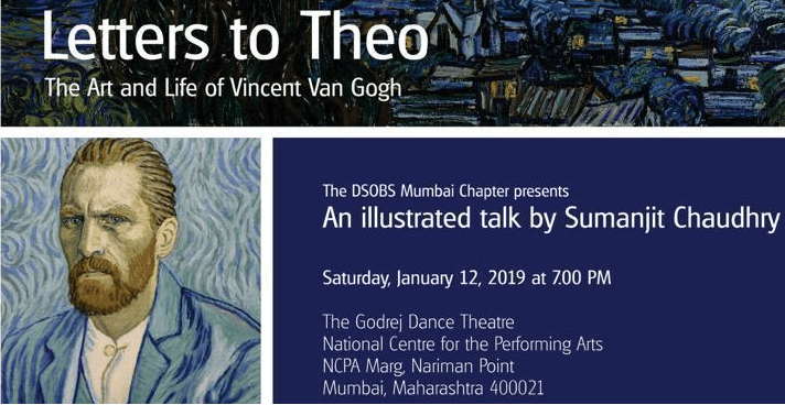 Letters to Theo: the Art and Life of Vincent Van Gogh, Mumbai on 12 January 2019