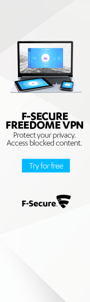 Download and install Freedome VPN for the ultimate protection